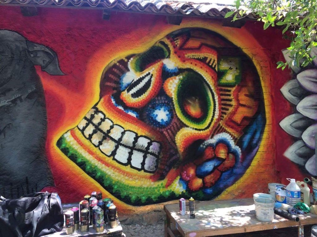 Murals and street art in puerto vallarta with adrian for Blood in blood out mural la river